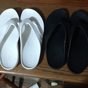 2 for 15!  Crocs flip flops!